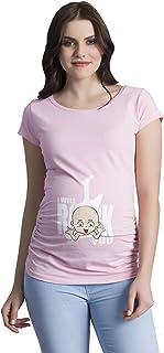 I Will Rock You - Ropa premamá Divertida y Adorable, Camiseta con Estampado, Regalo Durante el Embarazo, Manga Corta