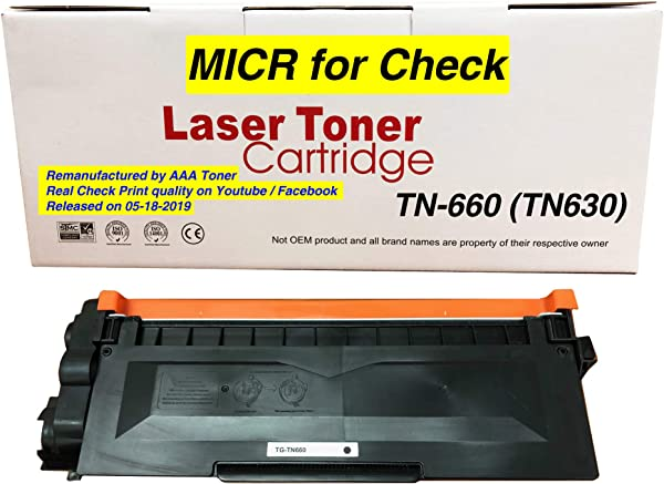 AAA Toner Compatible MICR Check Printing Toner Cartridge Replacement For Brother MFC L2700DW MFC L2707DW MFC L2705DW TN 660 TN 630