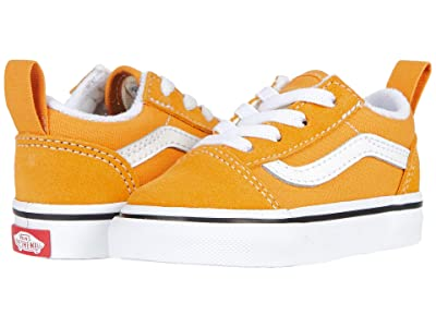 Vans Kids Old Skool Elastic Lace (Infant/Toddler) (Golden Nugget/True White) Kids Shoes