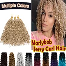 """14"""" Marlybob Crochet Hair Synthetic Deep Water Wave Braiding Hair Weave 3 Packs/lot Extensions Afro Jerry Curl Twist Braids Hair for Black Women Natural Blonde"""