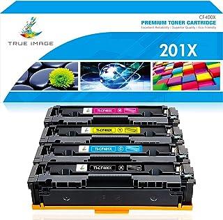 True Image Compatible Toner Cartridge Replacement for HP 201X 201A CF400X CF401X CF402X CF403X CF400A Laserjet Pro MFP M277dw M252dw M252n M277n M277c6 M277 Ink (Black Cyan Yellow Magenta, 4-Pack)