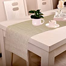 Lushomes Grey Jacquard Waterproof and Heat Resistant PVC Runner (30 x 180 cms)