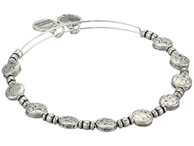 Alex and Ani Coin Charm Bangle (Rafaelian Silver) Bracelet