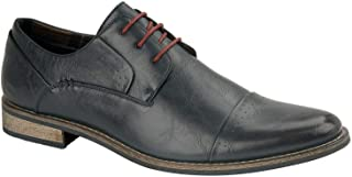 Mens Senator High Top Faux Leather Shoes Smart Office Work Wedding Formal Oxford Shoes Sizes