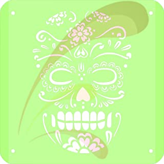 Skull, Day of Dead, Cookie stencil, Cake Stencil, Coffee Stencil, Candy Stencil, Cupcake stencil for Royal Icing, powders, sugars, edible glitters and Airbrushing