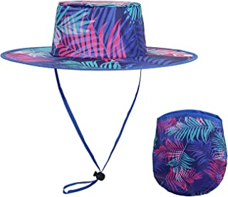 BEEN THERE BRAND Palm Tree Foldable Sun Hat & Pouch | Travel, Beach, Event, Concert & Parade