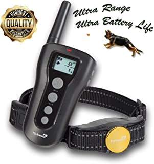 PetAmenity Dog Training Collar [2019 Ultra Edition], 1200+ Feet Safe Remote E Collar, 100% Waterproof and Rechargeable with Beep/Vibration/Shock Modes for Small, Medium, Large Dogs