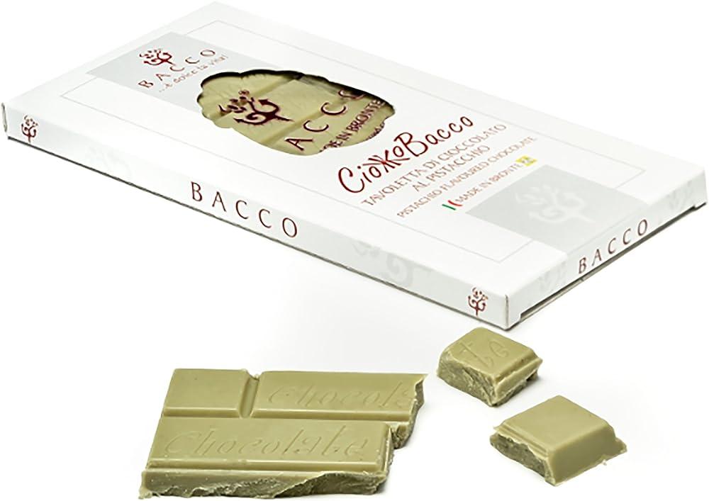 ciokkobacco  tavoletta di cioccolato al pistacchio 100 gr