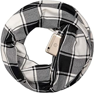 Infinity Pocket Scarf with Hidden Pocket - Lightweight Travel Scarf for All Seasons