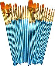 BOSOBO Paint Brushes Set, 2 Pack 20 Pcs Round Pointed Tip Paintbrushes Nylon Hair Artist Acrylic Paint Brushes for Acrylic...