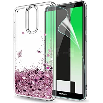 LeYi Funda Huawei Mate 10 Lite Silicona Purpurina Carcasa con HD ...