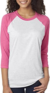5e0c101f Next Level Apparel 6051 Unisex Tri-Blend 3 By 4 Sleeve Raglan - Vintage Pink