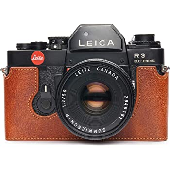 Handmade Genuine Real Leather Half Camera Case Bag Cover for Leica SL Typ601 Black Color