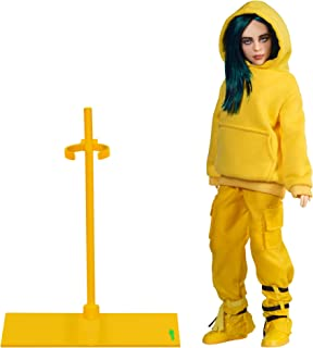 "Bandai Billie Eilish 10.5"" Collectible Figure Bad Guy Doll Toy with Music Video Inspired Clothes and Set Backdrop"
