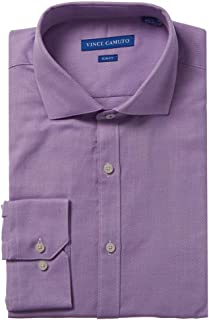 Vince Camuto Mens Slim Fit Dress Shirt, 16.5 34/35, Purple