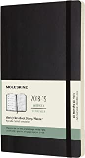 Moleskine Classic 18 Month 2018-2019 Weekly Planner, Soft Cover, Large (5