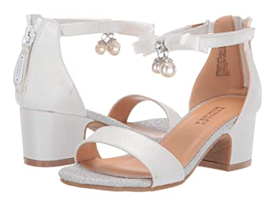 Badgley Mischka Kids Pernia Pearl Bow (Little Kid/Big Kid) (White Shimmer) High Heels