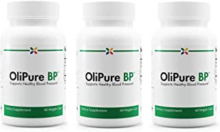 Stop Aging Now - OliPure BP - Olive Leaf Extract Blood Pressure Support Formula - 180 Veggie Caps (3 Bottle Multi-Pack)