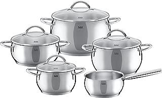 Silit Nobile 9 piece cookware set silver