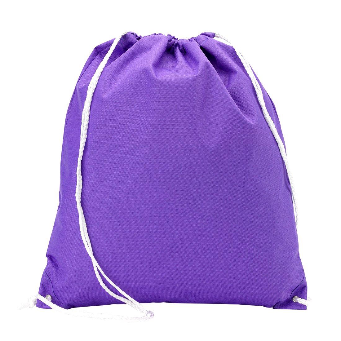 卸売ブティックバックパックスタイル巾着フィットネスバッグ純粋な紫色