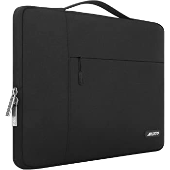 MOSISO Laptop Sleeve Compatible with 13-13.3 inch MacBook Air, MacBook Pro, Notebook Computer, Polyester Multifunctional Briefcase Bag, Black