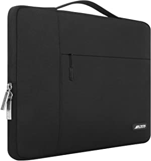 MOSISO Laptop Briefcase Handbag Compatible with 13-13.3 inch MacBook Air, MacBook Pro, Notebook Computer, Polyester Multifunctional Carrying Sleeve Case Cover Bag, Black