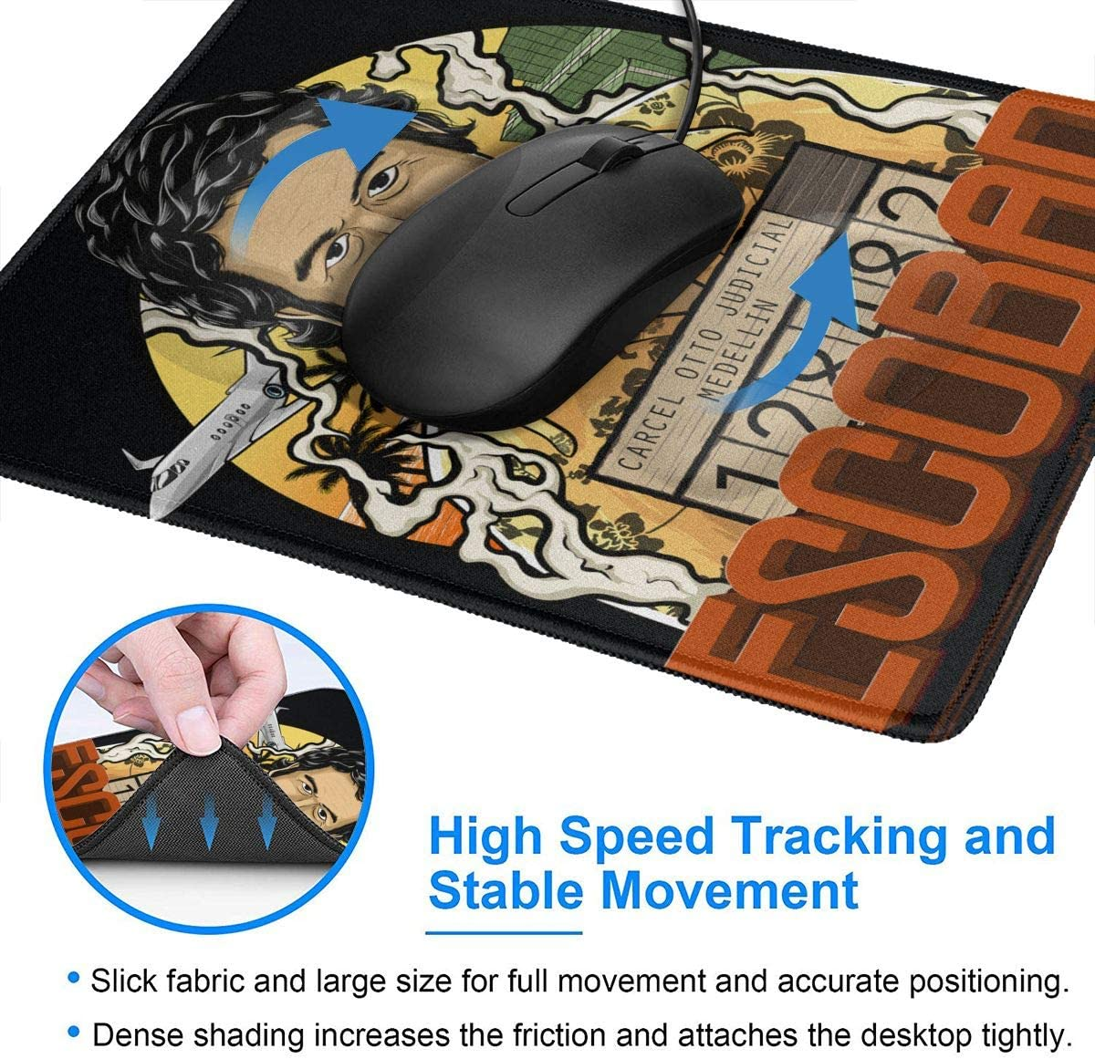Laptop Wehoiweh Pablo Escobar Mouse Pads for Computers Office /& Home,Multiple Sizes