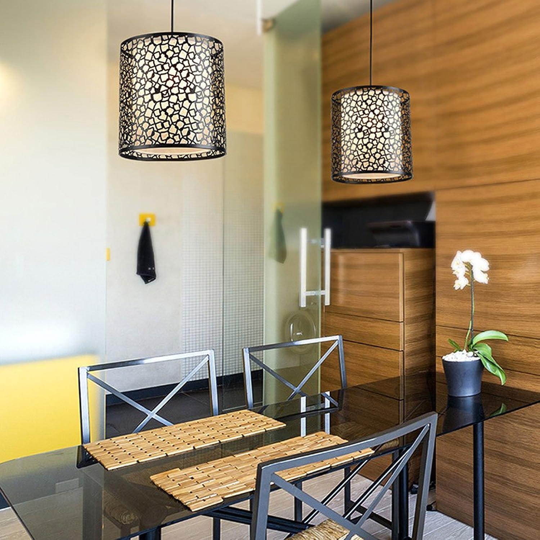 Wanson Moderne Pendelleuchte Wohnzimmer Internet Café Deckenlampe Restaurant Single Head Leuchten 25  25Cm E27 Schwarzlicht