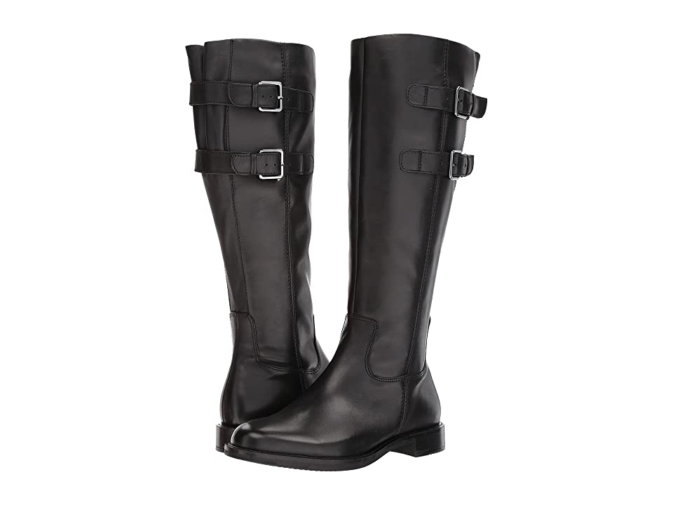 ECCO Shape 25 Tall Buckle (Black Cow Leather) Women's Boots