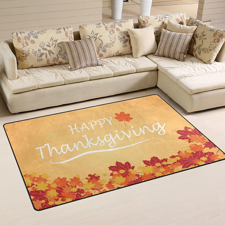 Orange Maple Autumn Leaves Large Soft Luxury goods Rugs 2021 model Nursery Area Playmat