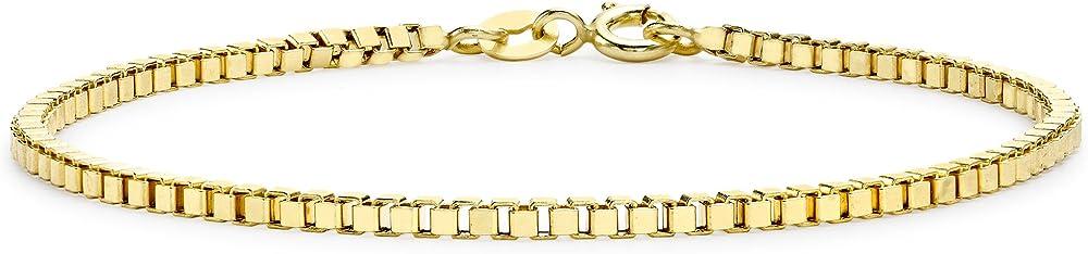Carissima gold, bracciale per donna, in oro giallo 9k (375)(2,1gr) 1.26.1702