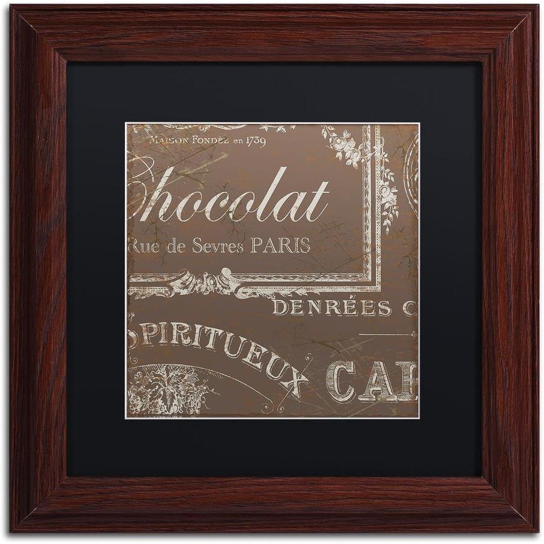 Trademark Fine Art Bon Mots III by color Bakery, Black Matte, Wood Frame 11x11