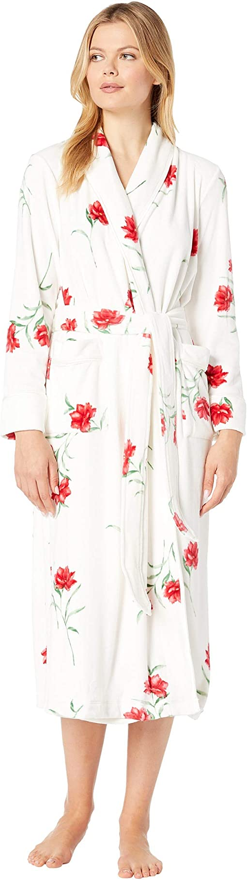 White/Red Floral