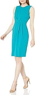 Calvin Klein Women's Sleeveless Sheath with Front Pleat Detail