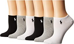 LAUREN Ralph Lauren 6-Pack Flat Knit Ultra Low Cut Socks