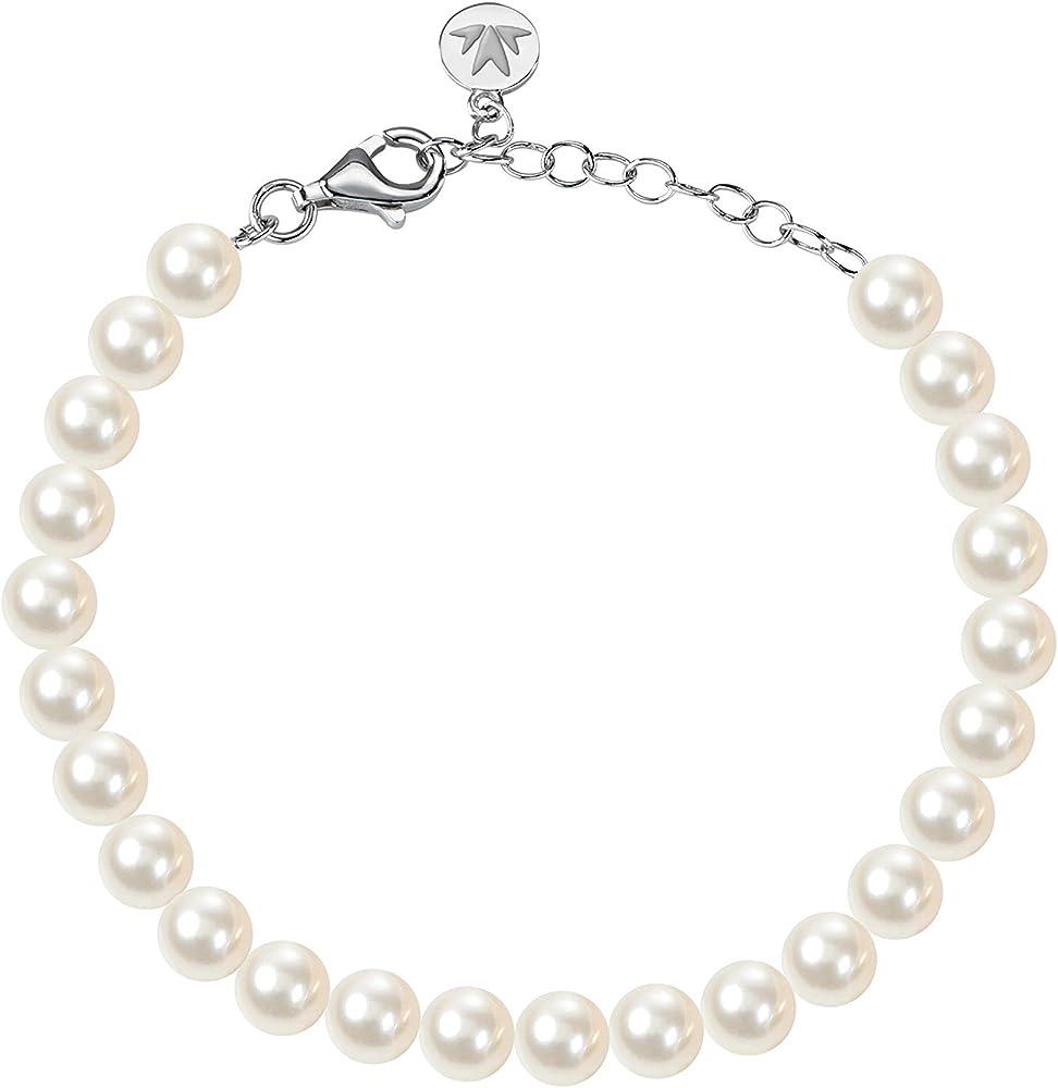 Morellato , bracciale da donna,in argento 925 e perle coltivate SANH06