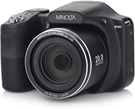"Minolta 20 Mega Pixels High Wi-Fi Digital Camera with 35x Optical Zoom, 1080p HD Video & 3"" LCD, Purple (MN35Z-BK)"