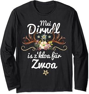 Mei Dirndl is z kloa für Zwoa Schwangere lustige Sprüche Fun Langarmshirt