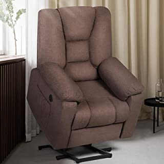 oneinmil Electric Power Lift Recliner Chair for Elderly, Fabric Home Massage Sofa Chairs..