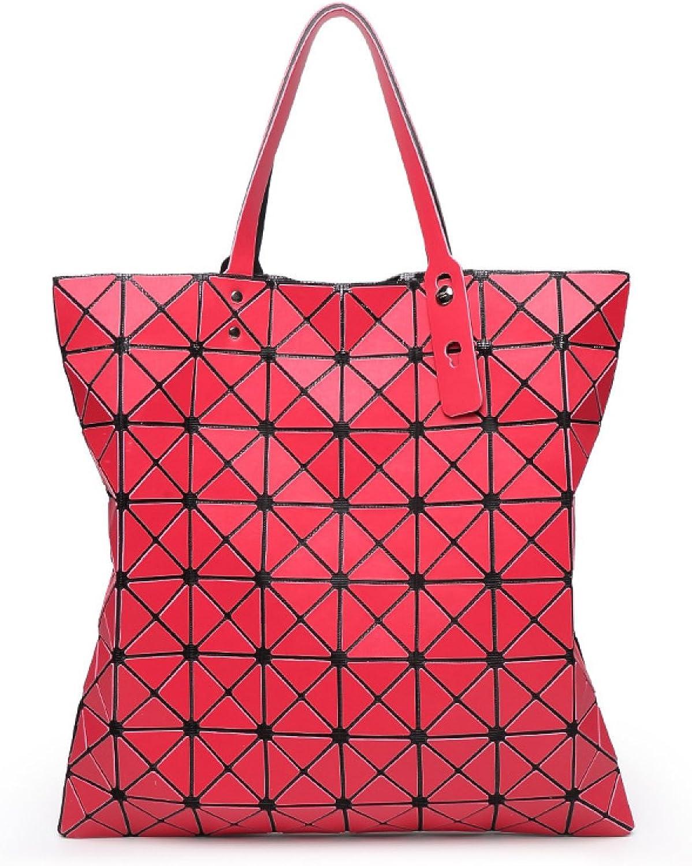Mode 8 8 8  8 Matt Ling Gitter-Paket Geometrische Tasche Faltbare Dame Handtasche Laser Schulter Diagonal Tasche B0782WT7FV  Mode 7ba220