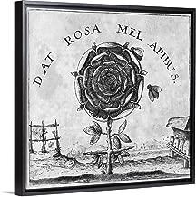 Rosicrucian Mystical Symbol Black Floating Frame Canvas Art, 12