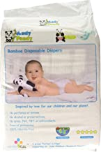 Eco Friendly Premium Bamboo Disposable Diapers by Andy Pandy - Large - for Babies Weighing 20-31 lbs - 70 Count