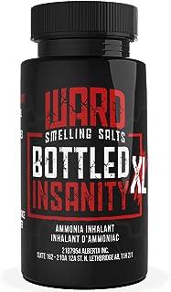 Ward Smelling Salts - Bottled Insanity - Insanely Strong Ammonia Inhalant | Smelling Salt for Powerlifting Hockey Football...