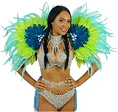 Tropical Carnival Costume Samba Epaulet - Adult Cosplay/Halloween Costumes Blue