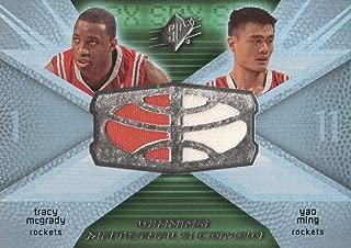 2008-09 Upper Deck NBA SPx Basketball Winning Materials Combo Jersey WMC-MM Tracy McGrady/Yao Ming Rockets