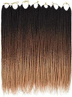 Ailsa 7Packs Crochet Braids Hair,Senegalese Twist Crochet Hair for Black Women,Prelooped Crochet Hair Ombre Color 30 Stran...