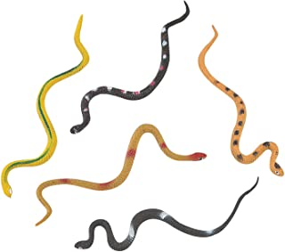 48 Vinyl Realistic Rainforest Snakes Rain Forest Snake Figures/Party Favors/Nature Toys/Anaconda/BOA Constrictor/Rattle/Coral/Viper