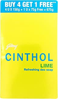 Cinthol Refreshing Deo Soap, Lime, 675 g