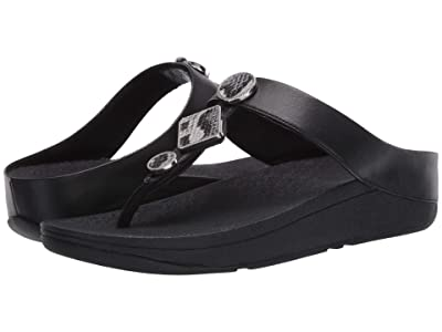 FitFlop Leia Toe Post (All Black) Women