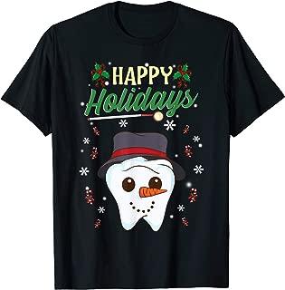 Holiday Design Dental Assistant Dental Hygienist Dentist T-Shirt